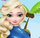 Elsa cuidar do golfinho