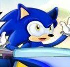 Sonic corrida pegar aneis dourados
