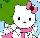 Pintar Hello Kitty natal