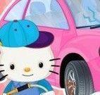 Limpar carro da Hello Kitty