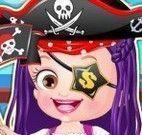Bebê Hazel roupinhas de pirata
