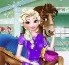 Elsa e cavalo vestir