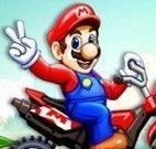 Mario e Luigi corrida de moto