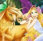 Vestir fada Rapunzel e unicórnio