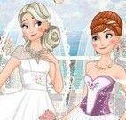 Anna e Elsa noivinhas