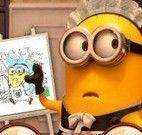 Livro de colorir Minions