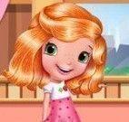 Moranguinho no cabeleireiro