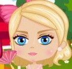 Bebê Barbie limpar casa