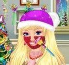 Barbie limpeza de pele no natal