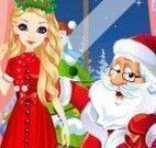 Menina moda e decoração natal