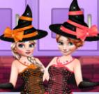 Bolo do Halloween Elsa e Anna