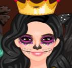 Maquiar garota para Halloween