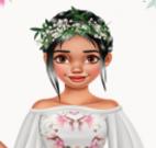 Roupas floral da Moana