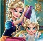 Elsa banho da bebê