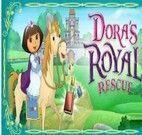 Passear de cavalo com a Dora até o castelo