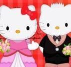 Hello Kitty limpar festa do casamento