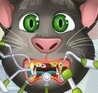 Gato virtual  Tom cuidar dos dentes