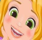 Rapunzel bebê dentista, colorir e vestir