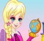 Vestir e maquiar Polly para escola