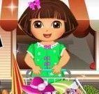 Dora compras para piquenique