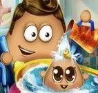 Pou banho no bebezinho