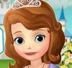 Princesa Sofia limpar casa