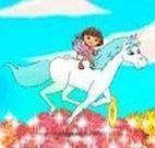 Andar de cavalo com a Dora