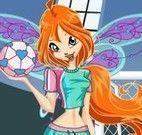 Bloom vestir roupas de futebol