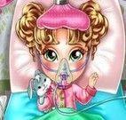 Bebê doente no hospital