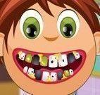 Limpar os dentes do menino