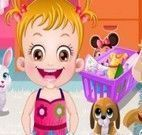 Bebê Hazel limpar quarto