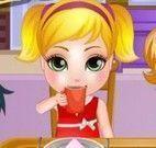 Chá da tarde das crianças