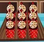 Fazer cupcakes de baunilha com cereja