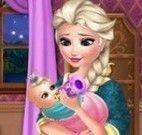 Elsa cuidar da bebê