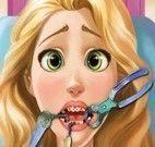 Rapunzel cuidar dos dentes