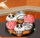 Fazer cupcakes de Halloween da Sara