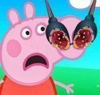 Cuidar do nariz da Peppa Pig