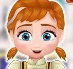 Anne bebê fazer bolo de bloquinhos