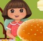Dora preparar hambúrguer Mc`Donalds