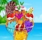 Decorar sorvetes na taça
