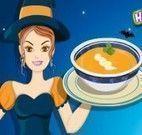 Receita de sopa de abóbora da bruxa