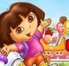 Dora dirigir carro de doces