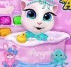 Banho de banheira bebê Angela
