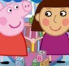 Quebra cabeça da Peppa Pig e amiga