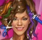 Rihanna no cabeleireiro