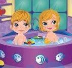 Bebês na banheira