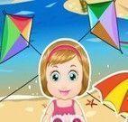 Bebê Melisa na praia