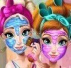 Anna e Elsa limpeza de pele