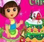 Fazer bolo de Natal da Dora