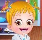 Bebê Hazel na escola